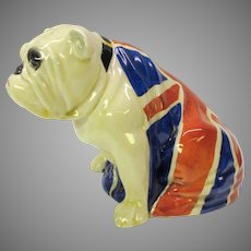 Large vintage Royal Doulton Union Jack draped Old british Bulldog porcelain figure