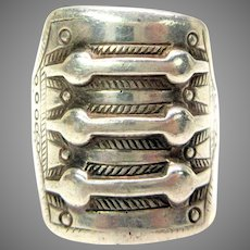 Big vintage David Anderson sterling silver Viking Man's ring size 10