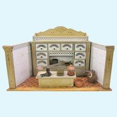 Antique German Gottschalk small size Country store doll room box display coffee tea etc