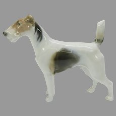 Vintage Rosenthal porcelain figure Fox terrier dog