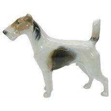 Vintage Rosenthal porcelain figure Fox terrier dog