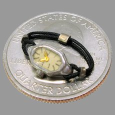Antique miniature French fashion doll wrist watch