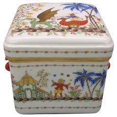 Big Tiffany & Co private stock Cirque Chinois dresser box casket Le Tallec porcelain