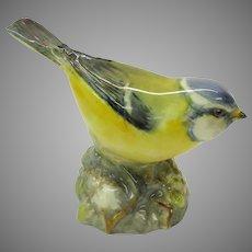 Vintage Royal Worcester porcelain Bird figure figurine Blue Tit