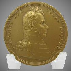 US Mint bronze Military medal 414 Brigadier General James Miller NRFB