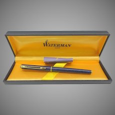 Vintage Waterman Paris Azure blue fountain pen in original box 18k nib