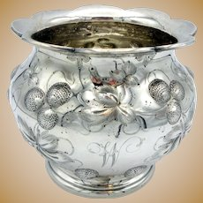 1850's Bailey, Kettell & Chapman Boston MA coin silver repousse vase