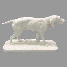 Antique Nymphenburg porcelain dog figurine
