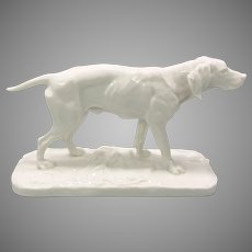Antique Nymphenburg porcelain dog figurine