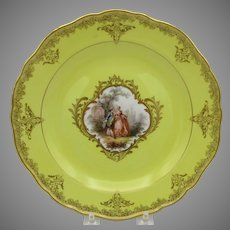 Finest quality early Meissen porcelain portrait plate with yellow ground #3