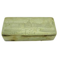 1850 Engraved combination snuff box and match safe vesta