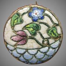 Fine antique Italian micro mosaic brooch pin