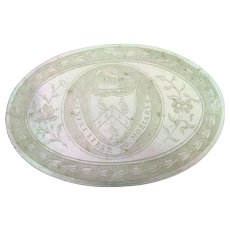 Georgian engraved mother of pearl token Vixi liber et moriar-Live free and die so