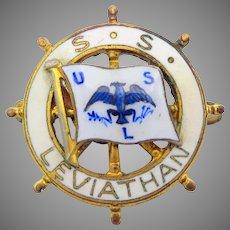 1931 enamel badge Steamship Leviathan S.S Leviathan