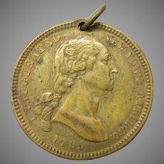 1889 Brooklyn NY Centenary medal coin brooklyn Bridge 8th wonder of the world