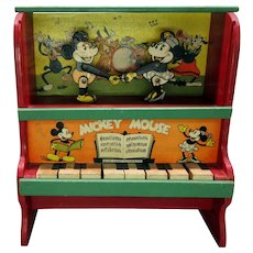 1933 Marks Brothers dancing Mickey Mouse toy piano Walt Disney