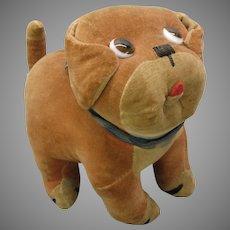 Large Farnell Chloe Preston Dinky dog velveteen toy as is