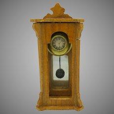 Antique doll house miniature regulator wall clock