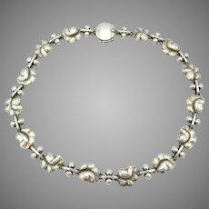 Vintage Georg Jensen Denmark sterling silver Grape necklace 96A