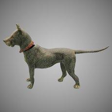 Large antique cold painted metal nodder figure Great Dane dog