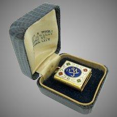18k gold and enamel Quran or Koran book pendant with miniature book inside