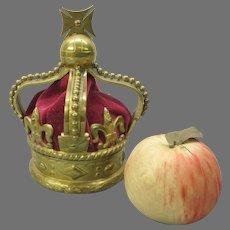 Big 1837 bronze figural crown inkwell Coronation of Queen Victoria