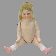 "Antique German 6 1/2"" all bisque doll"