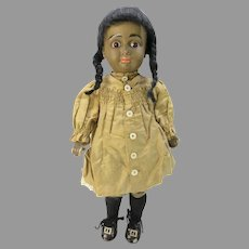 "Antique 15"" Black closed mouth A.T. Kestner bisque head doll #10"
