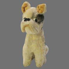 Vintage googly eye mohair Boxer Dog plush toy figure