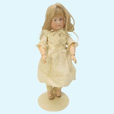 Smallest size Kammer & Reinhardt K*R 114 bisque head closed mouth cabinet doll Gretchen 8""