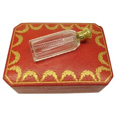 Antique French 18k gold top cut glass perfume bottle