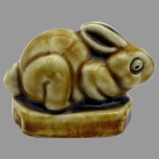 Antique Doulton Mark Marshall stoneware rabbit paperweight figurine #2