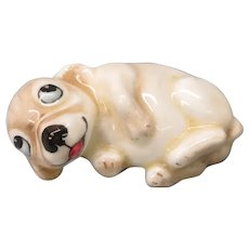 Vintage Royal Doulton porcelain laying down Bonzo dog figurine HN 804
