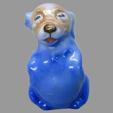 Vintage Royal Doulton porcelain Bonzo dog figurine in blue small mouth HN 805B #1