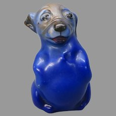 Vintage Royal Doulton porcelain Bonzo dog figurine in blue small mouth HN 805B #2