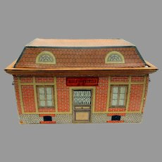 Antique French School house opens to reveal all bisque dolls in a classroom 7 dolls all original Ecole Communal
