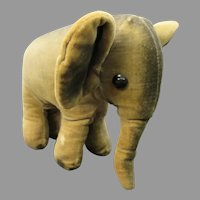 Vintage velveteen Elephant toy