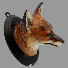 Extremely rare vintage Royal Doulton Fox head wall mount plaque