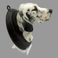 Vintage Royal Doulton porcelain English Setter Dog head wall mount plaque SK 21