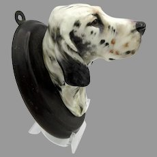 Vintage Royal Doulton porcelain English Setter Dog head wall mount plaque SK 21