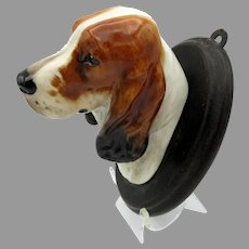 Vintage Royal Doulton porcelain Cocker Spaniel Dog head wall mount plaque SK 23