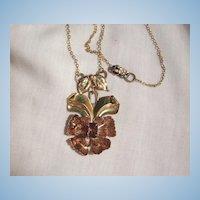 Stunning Barclay 1/20/12 GF Pat pend Art Nouveau style Purple Rhinestone Necklace