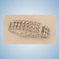 Outstanding 3 row rhinestone expandable double locket Bracelet