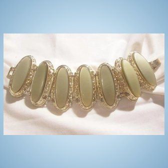 Bold beautiful moon glow Lucite Bracelet Book Piece