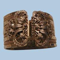 Bold Extraordinary Etruscan revival mesh metal Bracelet
