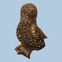 Vintage rhinestone BSK Bird Brooch