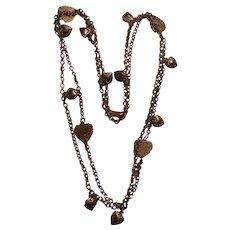 Vintage long multi hearts Necklace