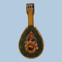 Vintage Italy micro mosaic Mandolin Brooch