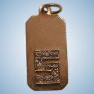 Vintage 14K small Diamond Pendent Initial S