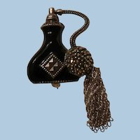 Sterling marcasite perfume atomizer shaped Bottle Brooch Judith Jack
